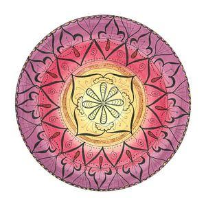 """Mandala """"Oriental Glitter Sinnlichkeit"""" handgemalt van"""