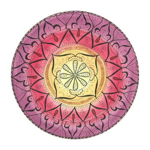 """Mandala """"Oriental Glitter Sinnlichkeit"""" handgemalt von"""