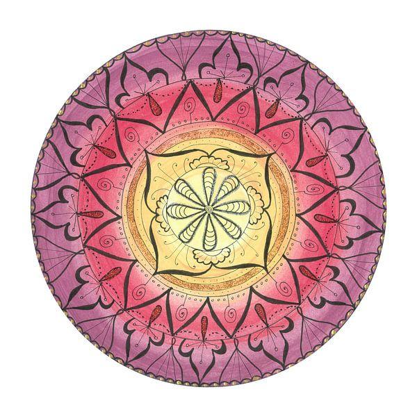 """Mandala """"Oriental Glitter Sinnlichkeit"""" handgemalt von Sylvia Polis"""