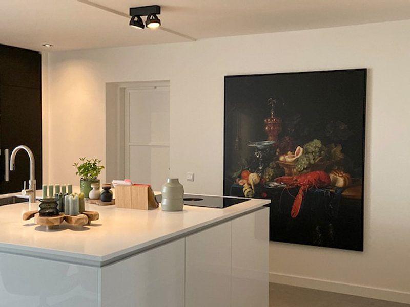 Klantfoto: Stilleven met een gouden bokaal, Pieter de Ring van Meesterlijcke Meesters, op canvas