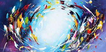 Blue Galaxy van Gena Theheartofart
