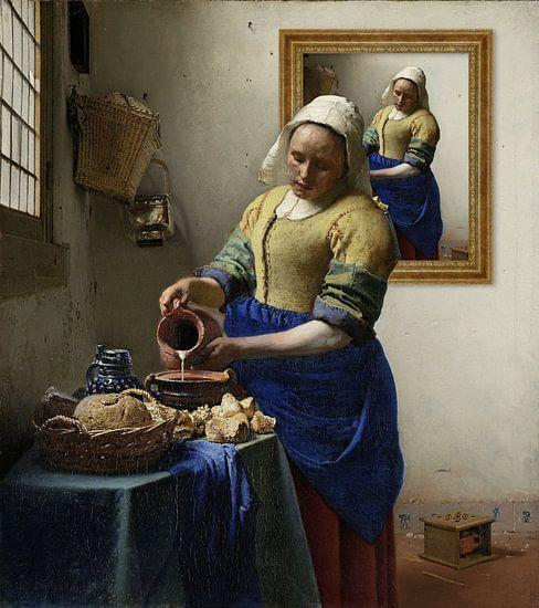 La Milkmaid - Autoportrait