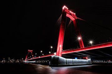Die Willemsbrug am Abend von Eddy Westdijk