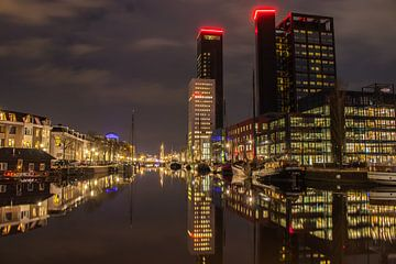 Nachtfoto Skyline Leeuwarden sur Chiel Hoekstra
