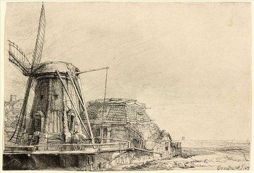 Rembrandt van Rijn, der Windmühle von Rembrandt van Rijn