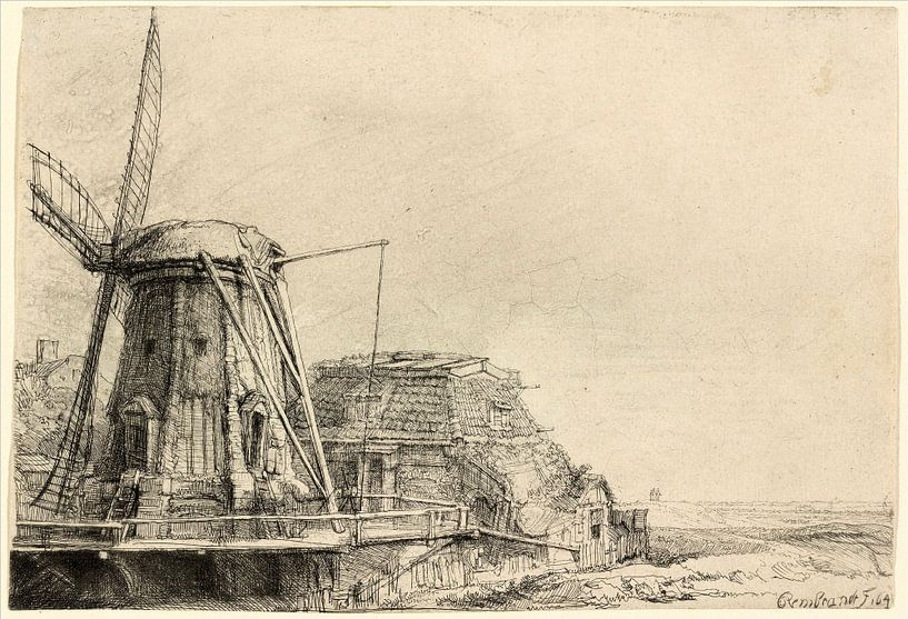 Rembrandt van Rijn, De Molen van Rembrandt van Rijn