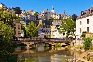Unterstadt in Luxemburg Stadt von Werner Dieterich