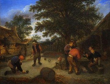 Ringballspiel, Adriaen van Ostade