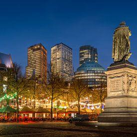 Avondfoto Plein in Den Haag  von Mark De Rooij