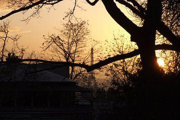 Parijs bij zonsondergang von Ricky Smeets