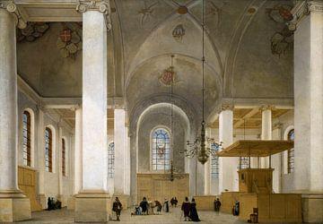 Haarlem, Inneres der neuen Kirche, Pieter Jansz. Saenredam - 1652 von Atelier Liesjes
