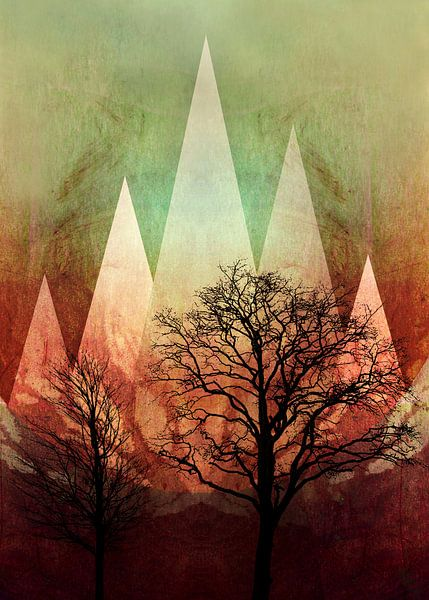 TREES under MAGIC MOUNTAINS I-A van Pia Schneider