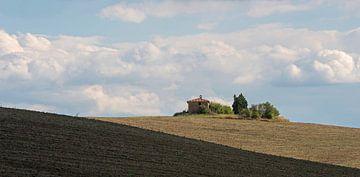 Landschap in Crete, Toscane van