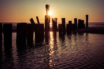 Zonsondergang 3 van Peter Heins