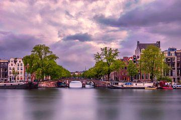 Amsterdamer Blick auf die Keizersgracht von Dennisart Fotografie