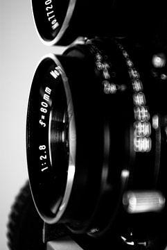 Lens van een middenformaat camera van Norbert Sülzner