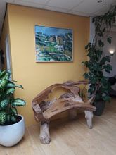 Klantfoto: Huizen in de Provence : De Riaux Valley in de buurt van L' Estaque, Cézanne, op canvas