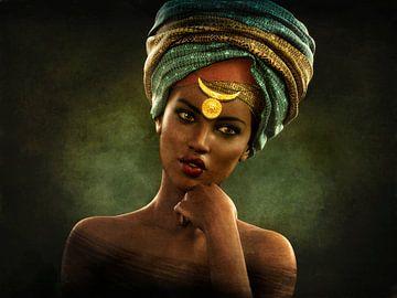 Portrait africain vintage
