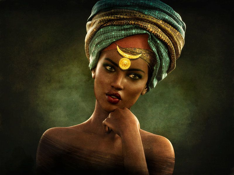 Vintage afrikanischen Porträt von Arjen Roos