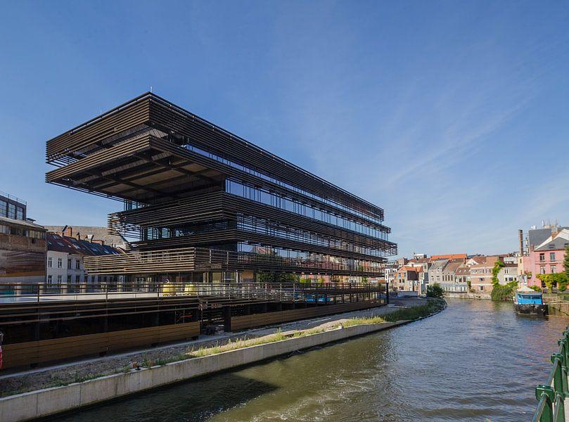 De Krook, moderne architectuur in Gent, België van Martin Stevens