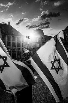 Drapeaux israéliens &amp ; drapeaux palestiniens sur Jordi Sloots