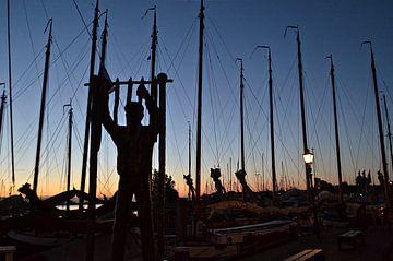 Sonnenaufgang in Monnickendam von Willem Holle WHOriginal Fotografie