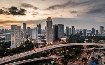 Singapore gezien vanaf de Flyer (2) von Peter Postmus