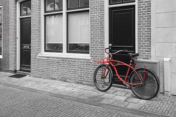 Rode fiets van Elles Rijsdijk