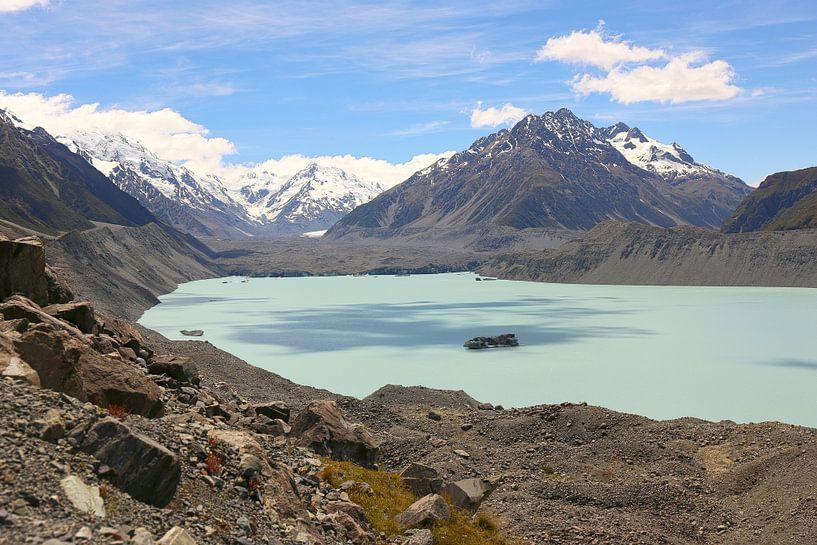 Hooker Lake / Nieuw-Zeeland van Shot it fotografie