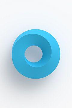 Blauwe vortex op lichte achtergrond van Jörg Hausmann