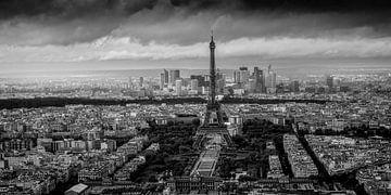 Vue de Paris avec la Tour Eiffel sur Toon van den Einde