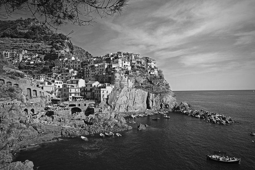Uitzicht op Monarola, Cinque Terre in Italie van Jasper van de Gein Photography