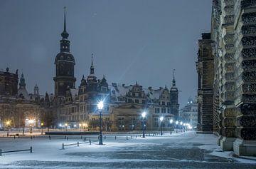Nachtelijke sfeer in Dresden van Sergej Nickel