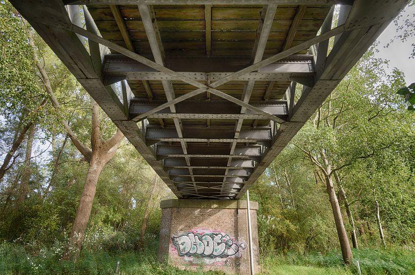 Halvezolen spoorbrug Drunen van Mark Bolijn