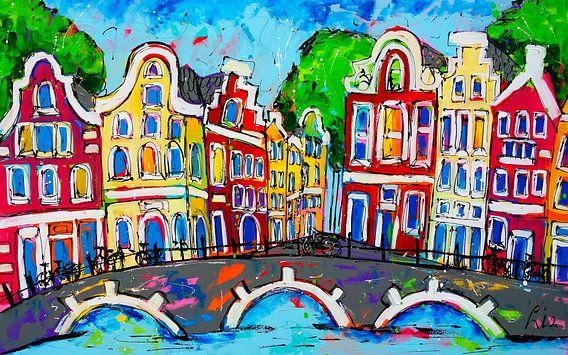 Utrecht van Vrolijk Schilderij