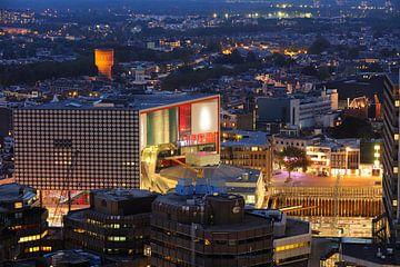 Centrum van Utrecht met  muziekgebouw TivoliVredenburg van Donker Utrecht