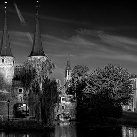 Zwart-Wit; Delft Oosterpoort van Rene Siebring