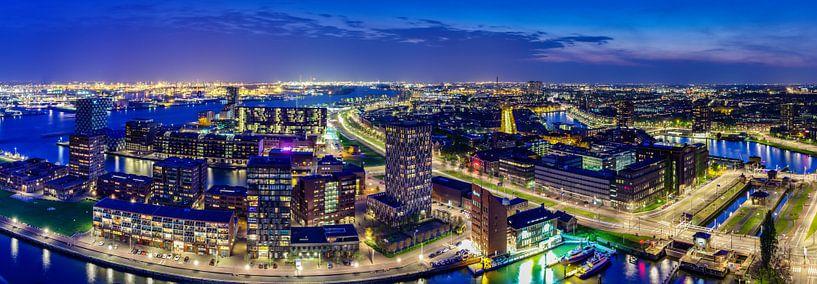 Panorama Rotterdam van Evert Buitendijk