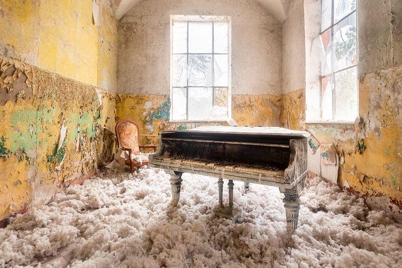Verlaten Piano met Wol. van Roman Robroek