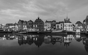 Stadhuiskade Maassluis (Zwart Wit)