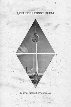 Koordinaten BERLIN Fernsehturm von Melanie Viola