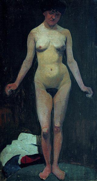 weiblicher Akt, frontal, Arme gebeugt - Paula Modersohn-Becker, 1900 von Atelier Liesjes
