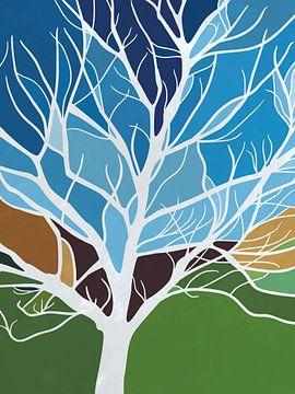 Kleurrijke boom van Color Square