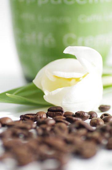 Spring groeten met heerlijke koffie