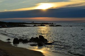Landrellec, Sunset in Brittany