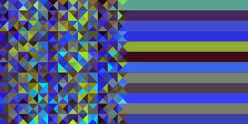 Driehoekig patroon 02 van Marion Tenbergen