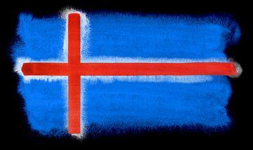 Symbolische nationale vlag van IJsland van Achim Prill