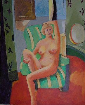 Hommage an Henri Matisse von Antonie van Gelder Beeldend kunstenaar
