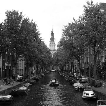 Kanal mit Blick auf die Zuiderkerk, Amsterdam von Roger VDB