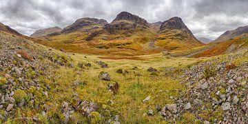 Drei Schwestern von Glencoe im Herbst von Arjan Oosterom